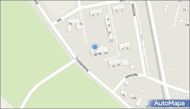 Chocianów, Armii Krajowej, 18, mapa Chocianów
