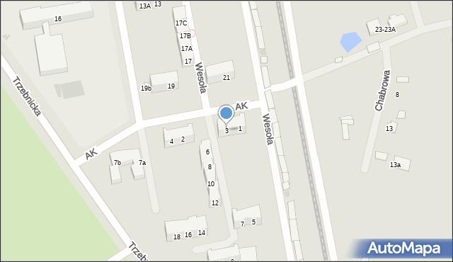 Chocianów, Armii Krajowej, 3, mapa Chocianów