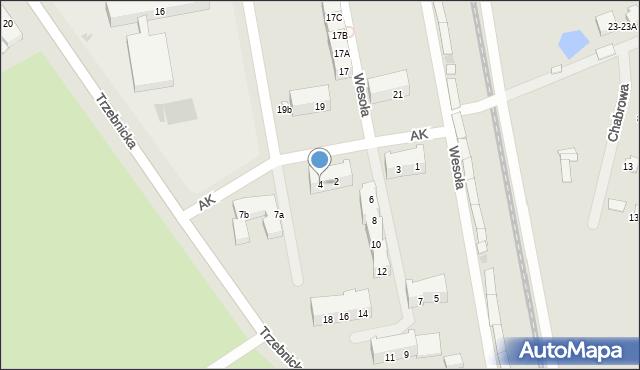 Chocianów, Armii Krajowej, 4, mapa Chocianów
