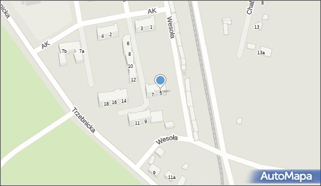 Chocianów, Armii Krajowej, 5, mapa Chocianów