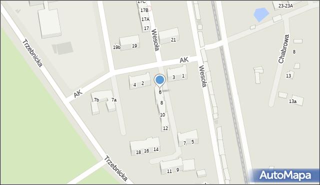 Chocianów, Armii Krajowej, 6, mapa Chocianów