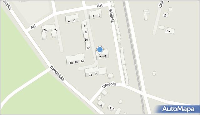 Chocianów, Armii Krajowej, 7, mapa Chocianów
