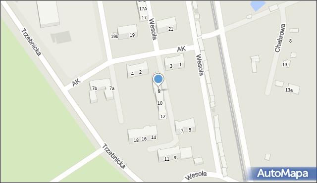 Chocianów, Armii Krajowej, 8, mapa Chocianów