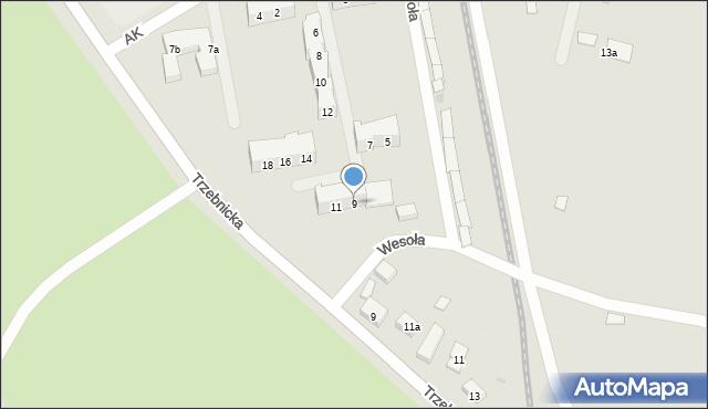 Chocianów, Armii Krajowej, 9, mapa Chocianów