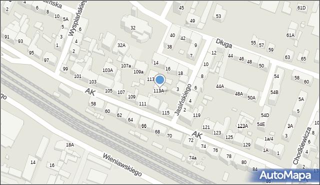 Chorzów, Armii Krajowej, 115A, mapa Chorzów