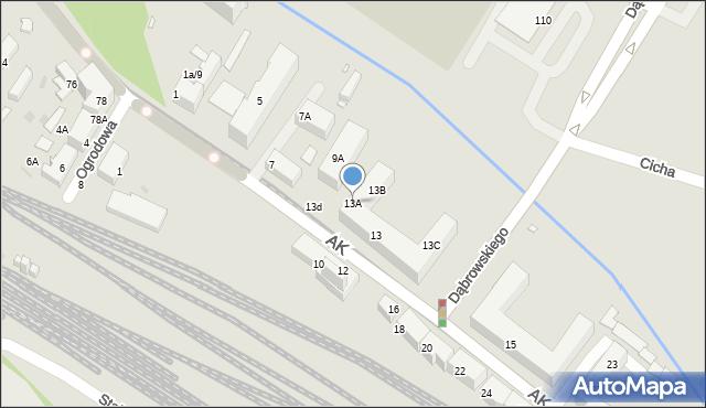Chorzów, Armii Krajowej, 13A, mapa Chorzów