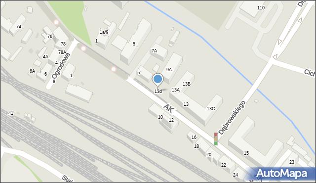 Chorzów, Armii Krajowej, 13d, mapa Chorzów