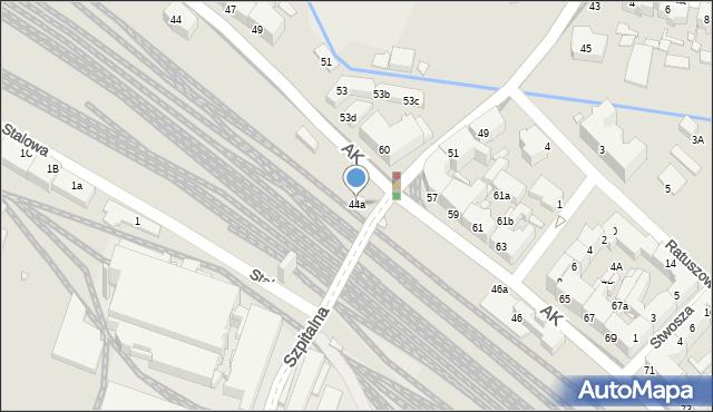 Chorzów, Armii Krajowej, 44a, mapa Chorzów