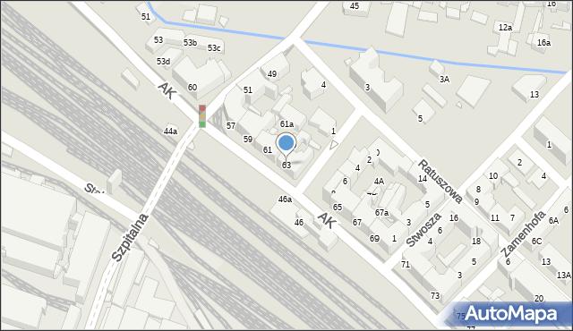 Chorzów, Armii Krajowej, 63, mapa Chorzów