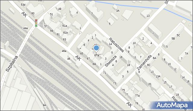 Chorzów, Armii Krajowej, 67a, mapa Chorzów