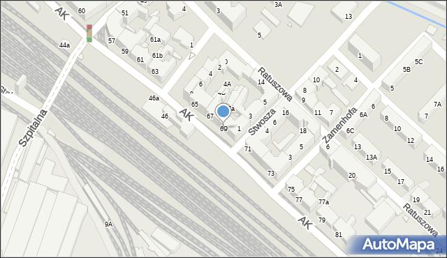 Chorzów, Armii Krajowej, 69, mapa Chorzów