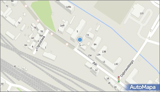 Chorzów, Armii Krajowej, 7, mapa Chorzów