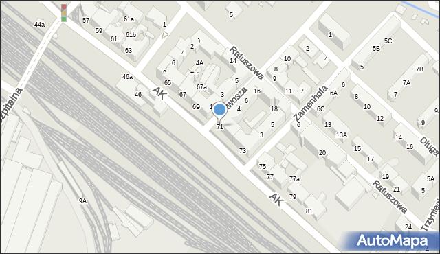 Chorzów, Armii Krajowej, 71, mapa Chorzów