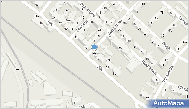 Chorzów, Armii Krajowej, 75, mapa Chorzów