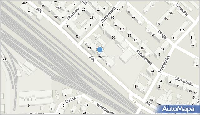 Chorzów, Armii Krajowej, 79, mapa Chorzów
