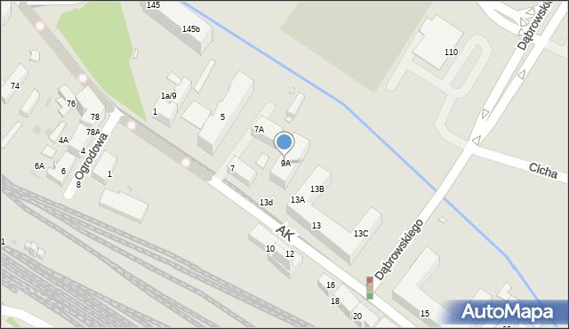 Chorzów, Armii Krajowej, 9A, mapa Chorzów