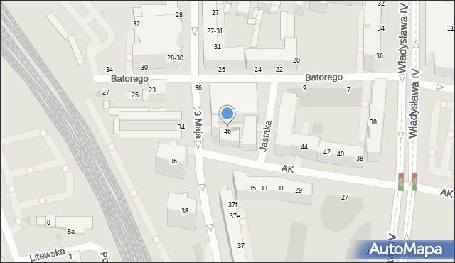 Gdynia, Armii Krajowej, 46, mapa Gdyni
