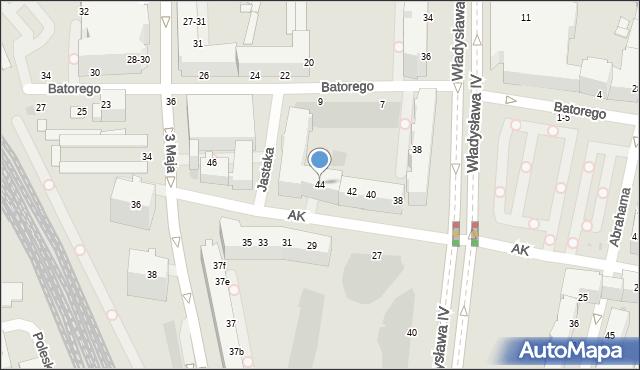 Gdynia, Armii Krajowej, 44, mapa Gdyni
