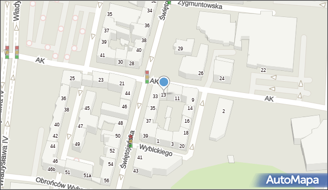Gdynia, Armii Krajowej, 13, mapa Gdyni