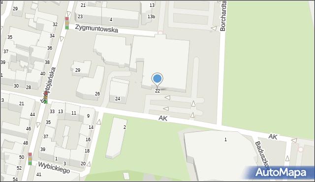 Gdynia, Armii Krajowej, 22, mapa Gdyni