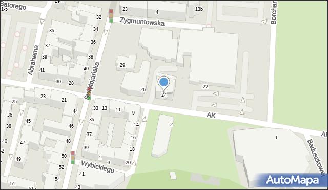 Gdynia, Armii Krajowej, 24, mapa Gdyni