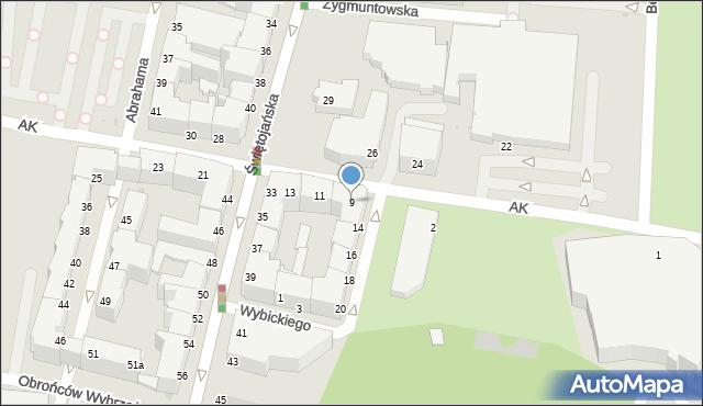 Gdynia, Armii Krajowej, 9, mapa Gdyni