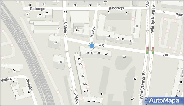 Gdynia, Armii Krajowej, 33, mapa Gdyni