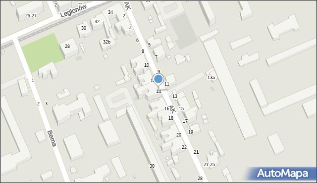 Grudziądz, Armii Krajowej, 14, mapa Grudziądza