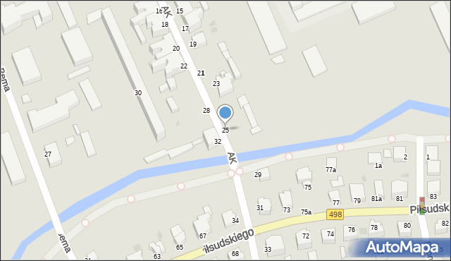Grudziądz, Armii Krajowej, 25, mapa Grudziądza