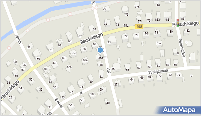 Grudziądz, Armii Krajowej, 36a, mapa Grudziądza