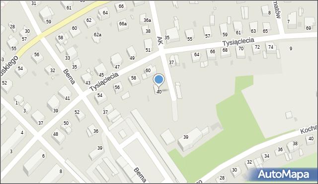 Grudziądz, Armii Krajowej, 40, mapa Grudziądza