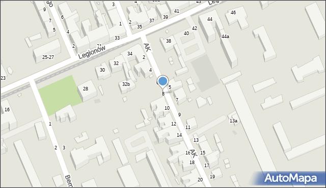 Grudziądz, Armii Krajowej, 8, mapa Grudziądza