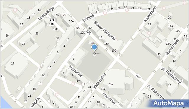 Kołobrzeg, Armii Krajowej, 10, mapa Kołobrzegu
