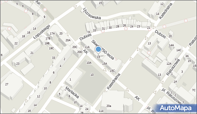 Kołobrzeg, Armii Krajowej, 13, mapa Kołobrzegu