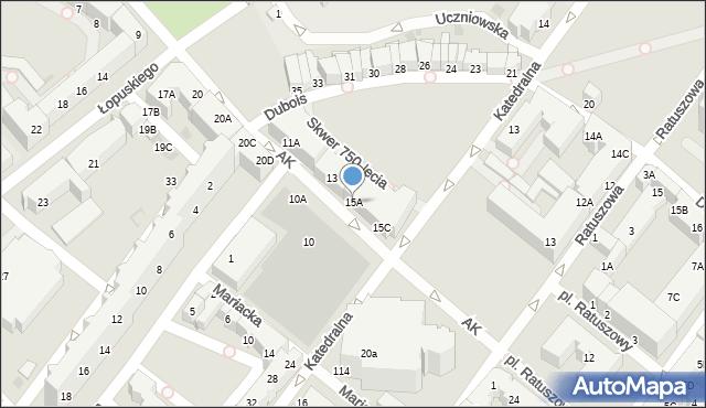 Kołobrzeg, Armii Krajowej, 15A, mapa Kołobrzegu