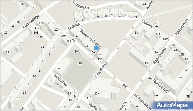 Kołobrzeg, Armii Krajowej, 15B, mapa Kołobrzegu