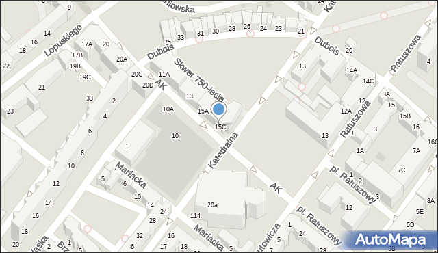 Kołobrzeg, Armii Krajowej, 15C, mapa Kołobrzegu