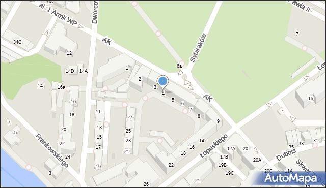 Kołobrzeg, Armii Krajowej, 4, mapa Kołobrzegu