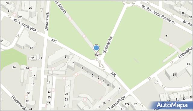 Kołobrzeg, Armii Krajowej, 6a, mapa Kołobrzegu