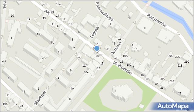 Olecko, Armii Krajowej, 1A, mapa Olecko