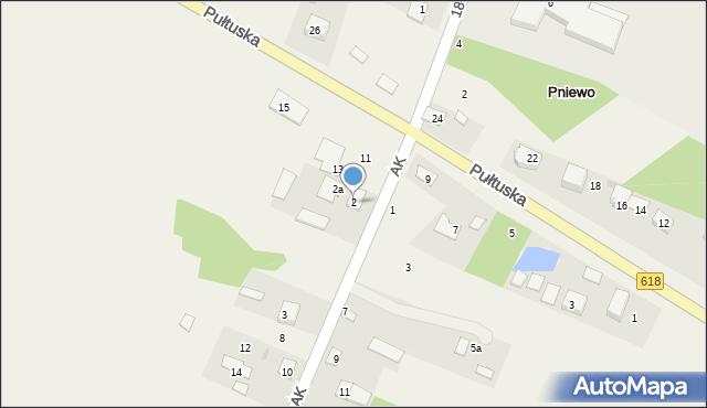 Pniewo, Armii Krajowej, 2, mapa Pniewo