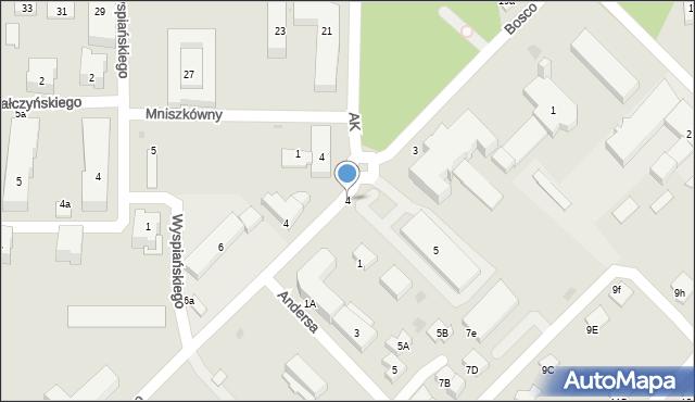 Sokołów Podlaski, Armii Krajowej, 4, mapa Sokołów Podlaski