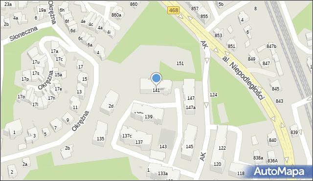 Sopot, Armii Krajowej, 141, mapa Sopotu