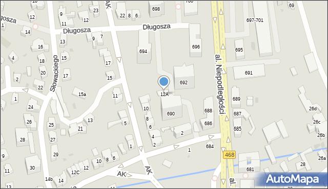 Sopot, Armii Krajowej, 12A, mapa Sopotu