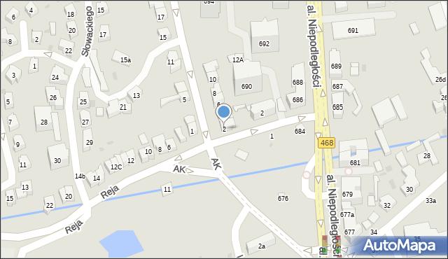 Sopot, Armii Krajowej, 2, mapa Sopotu