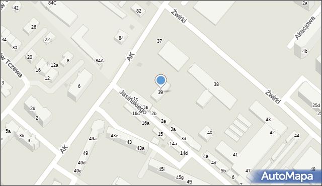 Tczew, Armii Krajowej, 39, mapa Tczew