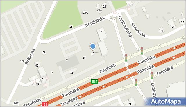 Warszawa, Artyleryjska, 17, mapa Warszawy