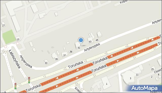 Warszawa, Artyleryjska, 41A, mapa Warszawy