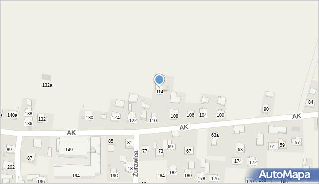 Żurawica, Armii Krajowej, 114, mapa Żurawica