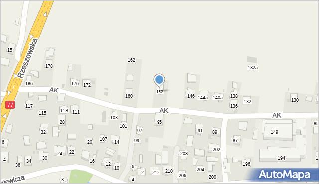 Żurawica, Armii Krajowej, 152, mapa Żurawica